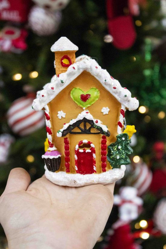 porcelain holiday house ornament