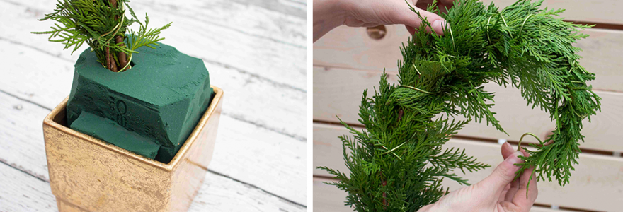 plant your whoville tree into your floral foam