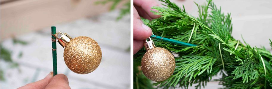 gold christmas ornament ball