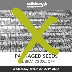 packaged seeds sale finished