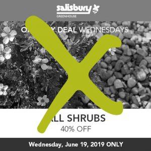 40% off shrubs sale finished