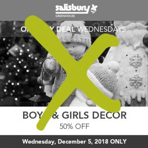 boys and girls christmas decor sale finished